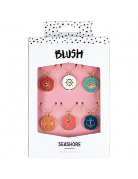 Seashore Wine Charms