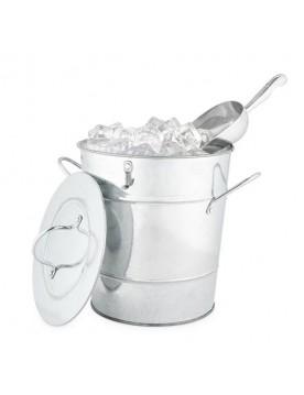 Twine Galvanized Metal Ice Bucket
