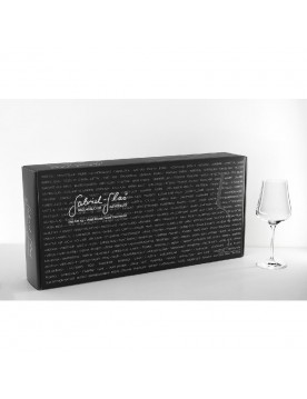 Mouth-Blown Austrian Universal Crystal Wine Glass Gold Edition by Gabriel Glas (6 Glass Gift Box)