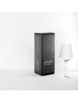 Mouth-Blown Austrian Universal Crystal Wine Glass Gold Edition by Gabriel Glas (1 Glass Gift Box)