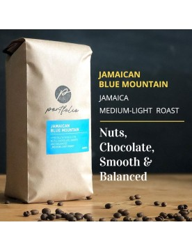 Jamaican Blue Mountain Single Origin Coffee (1/2lb) Medium-Light Roast by Portfolio Coffee Roasters