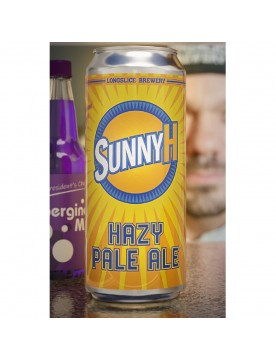 Sunny H Hazy Pale Ale Beer (473 ml Cans) 24 Pack by Longslice Brewery
