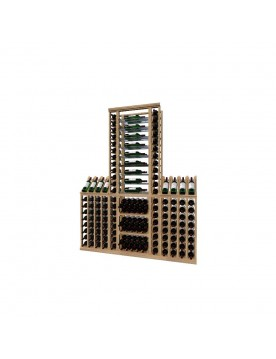 Classic Wood Wine Storage Rack 172 Bottle Capacity (Easy Self Assembly) by La Vieille Garde