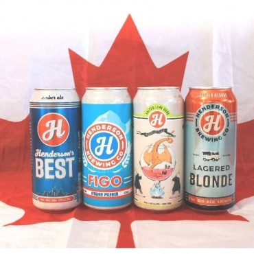 Canada Day Exclusive Henderson Brewing Co. Mixed Beer 24 Pack (473ml Cans)