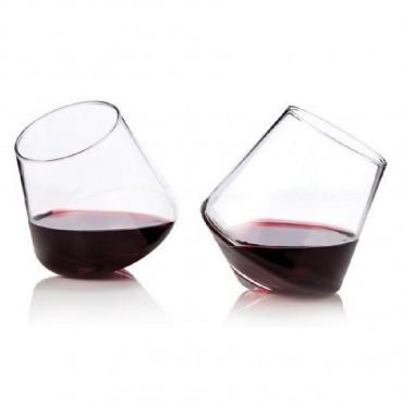 Rolling Crystal Wine Glasses by Viski® (Set of 2)