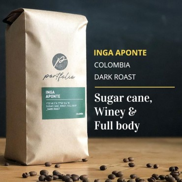 Inga Aponte Single Origin Colombian Coffee (1lb) Dark Roast by Portfolio Coffee Roasters