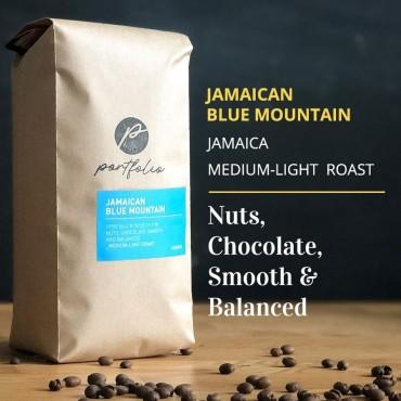 Jamaican Blue Mountain Single Origin Coffee (1lb) Medium-Light Roast by Portfolio Coffee Roasters