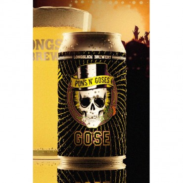 Puns N' Goses Kettle Sour Gose Beer (355 ml Cans) 24 Pack by Longslice Brewery