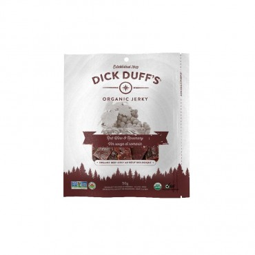 Organic Beef Jerky - Red Wine & Rosemary Flavour (50g) by Dick Duff's