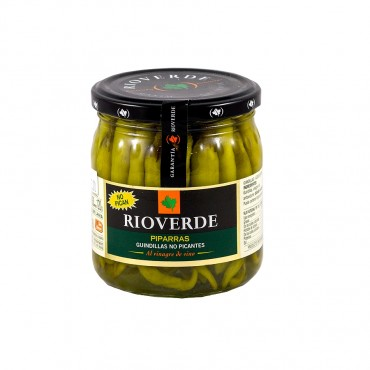 Green Sweet Peppers Piparras by Rioverde