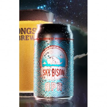 Sky Bison APA Beer (355 ml Cans) 24 Pack by Longslice Brewery