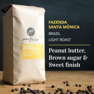 Fazenda Santa Monica Single-Origin Brazilian Coffee (1lb) Light Roast by Portfolio Coffee Roasters