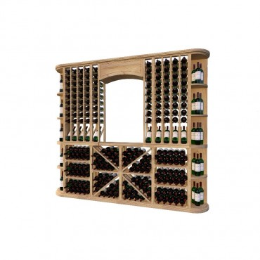 Classic Wood Wine Storage Rack 406 Bottle Capacity (Easy Self Assembly) by La Vieille Garde