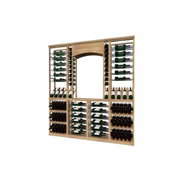 Classic Wood Wine Storage Rack 160 Bottle Capacity (Easy Self Assembly) by La Vieille Garde