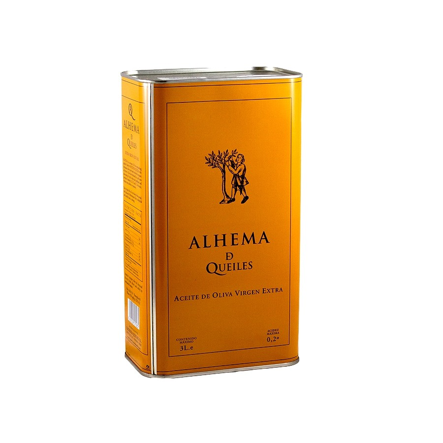 Organic Extra Virgin Olive Oil by Alhema de Queiles Arbequina (3 Litre)