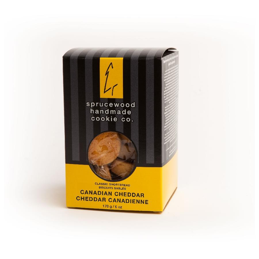 Canadian Classic Cheddar Shortbread Biscuits by Sprucewood Handmade Cookie Co.