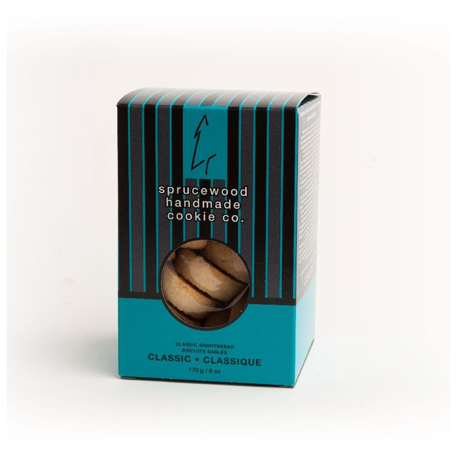 Canadian Classic Vanilla Shortbread Biscuits by Sprucewood Handmade Cookie Co.