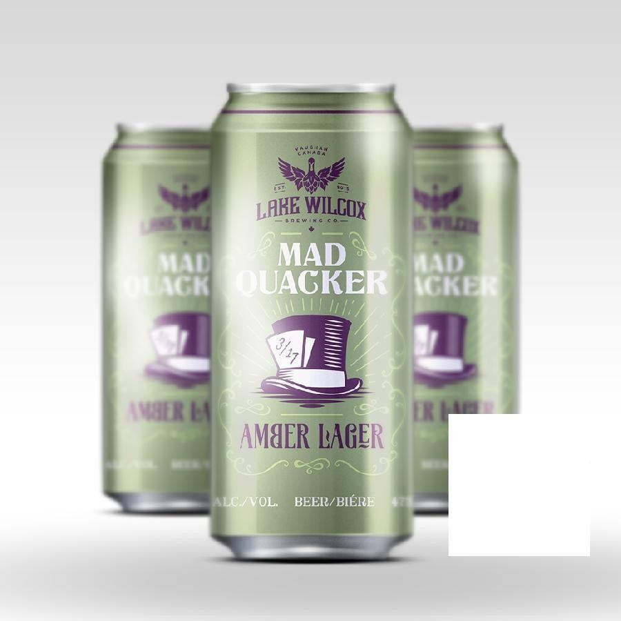 Mad Quacker Vienna Amber Lager Craft Beer 473ml Cans by Lake Wilcox Brewing Co.