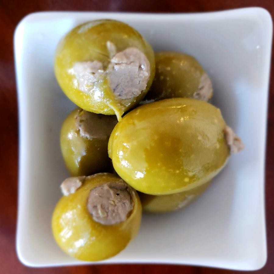 Stuffed Gordal Olives with Cheese and Anchovy (272g) by Amanida
