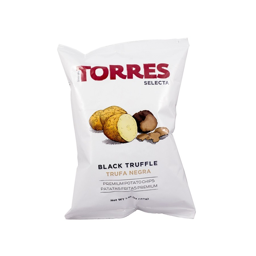 Black Truffle Potato Chips by Torres Selecta (40g)