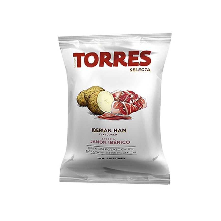 Iberian Ham Flavoured Potato Chips by Torres Selecta (40g)