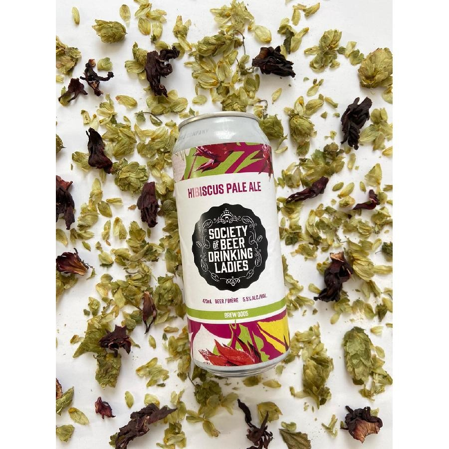 Society of Beer Drinking Ladies Hibiscus Pale Ale Brew #5 (473ml Cans) 24 Pack by Henderson Brewing Co.