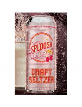 Cherry Sploosh Craft Seltzer (473 ml Cans) 24 Pack by Longslice Brewery