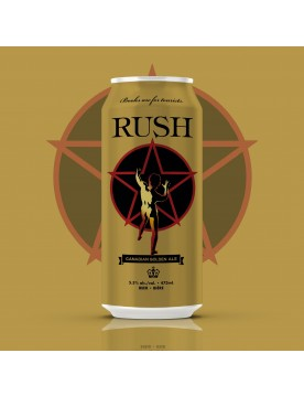 Rush Canadian Golden Ale Beer (473ml Cans) 24 Pack by Henderson Brewing Co.