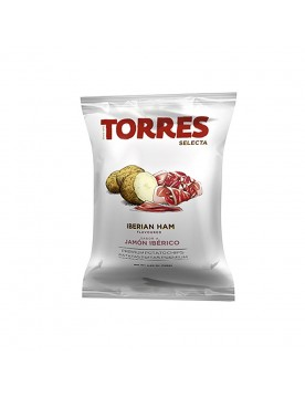Iberian Ham Flavoured Potato Chips by Torres Selecta (120g)