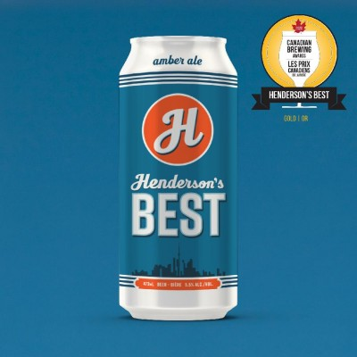 Henderson's Best Amber Ale Beer (473ml Can) 24 Pack by Henderson Brewing Co.