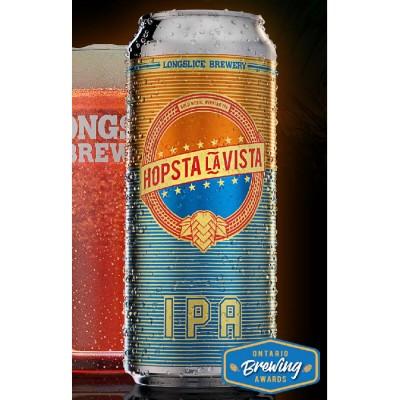 Hopsta La Vista IPA Beer (473 ml Cans) 24 Pack by Longslice Brewery