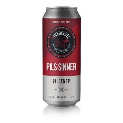 Pils-Sinner Craft Beer by Innocente Brewing Company