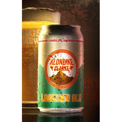 Klondike Clarke Lagered Ale Beer (355 ml Cans) 24 Pack by Longslice Brewery