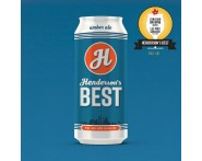 Henderson's Best Amber Ale Beer (473ml Can) 24 Pack by Henderson Brewing Co. | Beer Online
