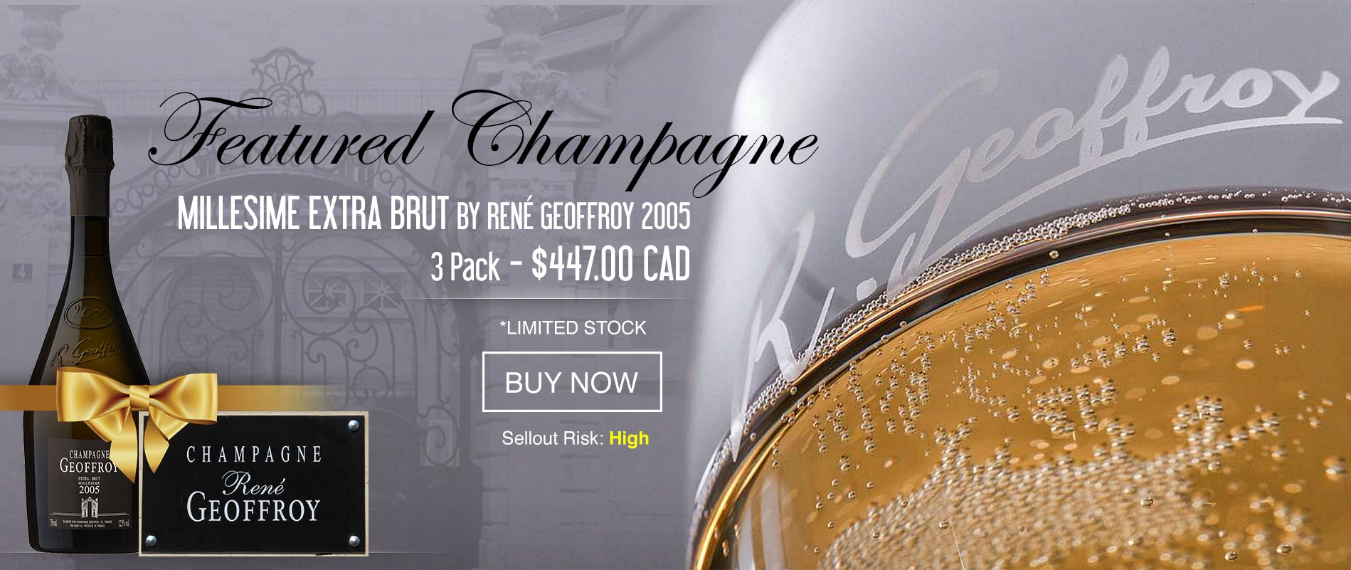 CHAMPAGNE MILLESIME EXTRA BRUT BY RENÉ GEOFFROY 2005