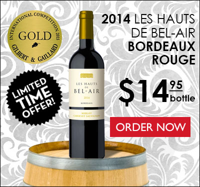 BORDEAUX ROUGE BY LES HAUTS DE BEL-AIR 2014