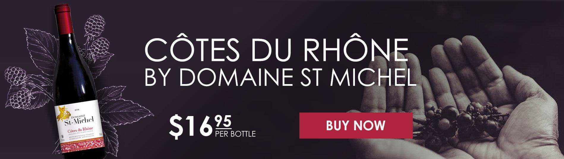 CÔTES DU RHÔNE BY DOMAINE ST MICHEL 2015