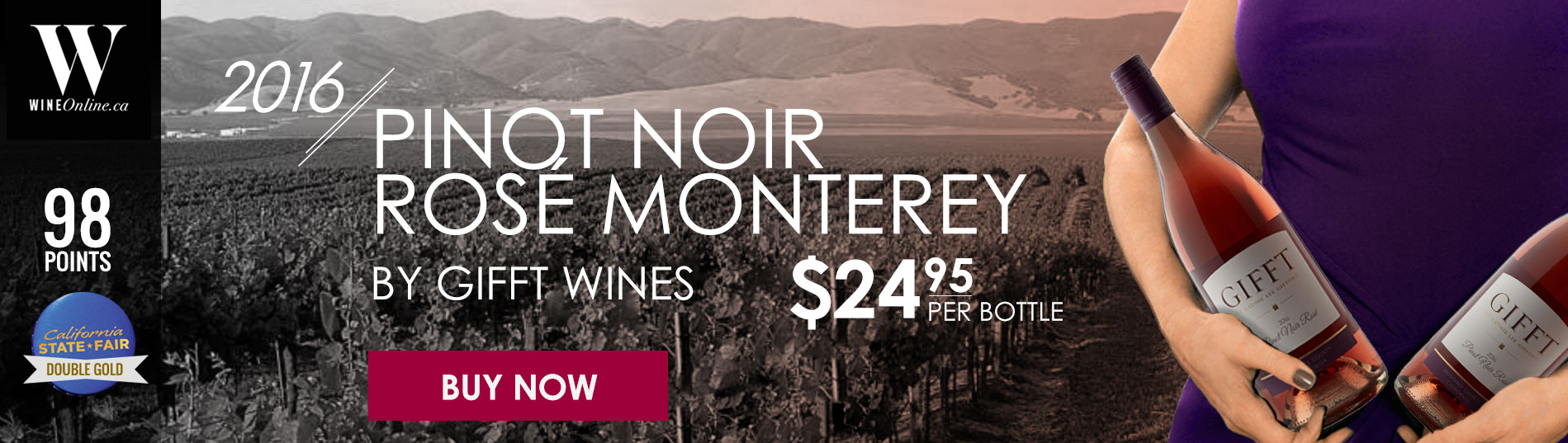 PINOT NOIR ROSÉ MONTEREY BY GIFFT WINES 2016