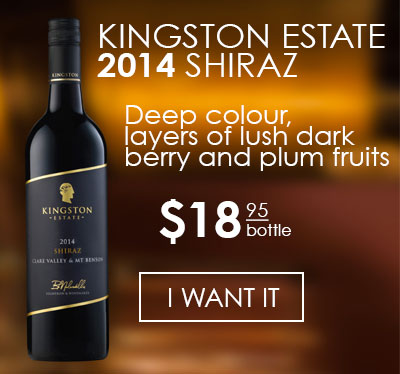 SHIRAZ MT BENSON / CLARE VALLEY BY KINGSTON ESTATE 2014